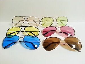 Large-Aviator-Sunglasses-Assorted-Lens-and-Frame-Colors-Pilot-Cop-Shades