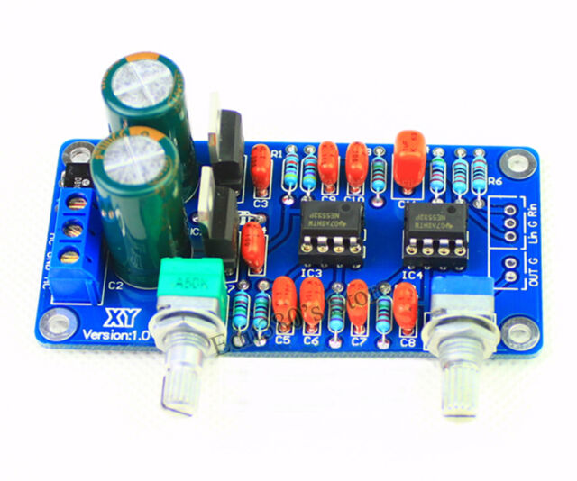 Subwoofer Processing Low-Pass Filter Circuit Board Assembled F Two NE5532 Op-amp