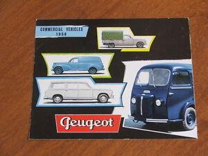 1958 Peugeot Commercial Vehicles 203 & 404 range original 10 page brochure