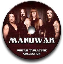 MANOWAR HEAVY METAL ROCK CHITARRA INTAVOLATURE CANTO BOOK CD SOFTWARE