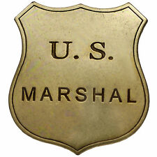 US Marshal Badge / Shield  -  Quality Solid Metal Reproduction