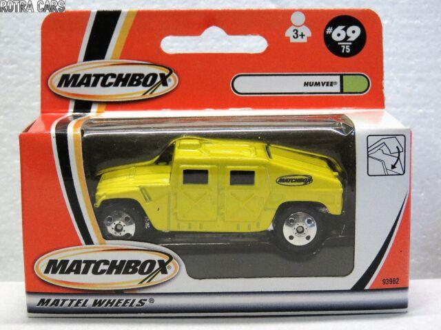 MATCHBOX MB69 diecast HUMVEE Yellow 2000  New in Box 93982