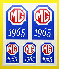 MG 1961-1980 MG MIDGET MGB MGBGT V8 MGC Year Date stickers decals INSIDE GLASS