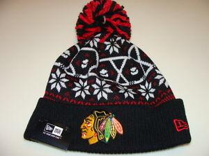 New Era Cap Hat Toque Beanie Pom Knit Christmas Sweater Chicago ...