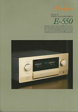 Accuphase e-550 Catalogo Prospetto Catalogue datasheet brochure