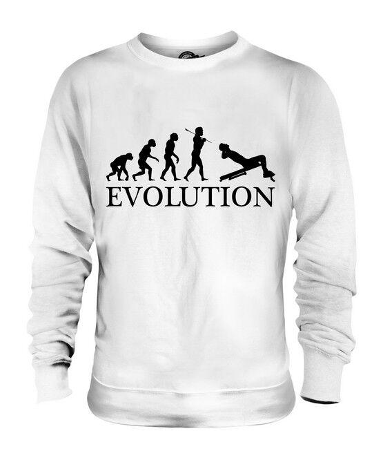 SIT-UP DECLINE EVOLUTION OF MAN UNISEX SWEATER  Herren Damenschuhe LADIES GIFT EXERCISE