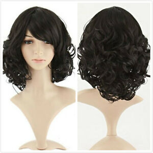 Fashion-Wig-New-Long-Sexy-Women-039-s-Black-Cosplay-Party-Curly-Wave-Natural-Wigs