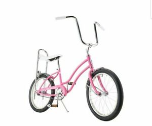 """NEW PINK  SPARKLE  BANANA BICYCLE  SEAT FOR 20/"""" BICYCLES"""