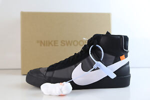 designer fashion 76d13 61edd Image is loading Nike-Blazer-Mid-Off-White-Virgil-Abloh-Grim-