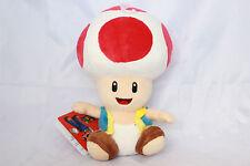 "Official NEW Red Toad Mushroom Plush 7"" Nintendo Super Mario Bros Stuffed Toy"