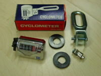 Cyclometer Kilometerzähler Set 24´ Fahrrad Nabenmontage Kult 60er Jahre Neu Ovp