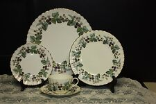 ROYAL WORCESTER 'LAVINIA' CREAM BONE CHINA 10-5 pc.PLACE SETTINGS MINUS 1 CUP