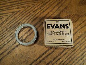 Vintage-Evans-Replacement-White-Tape-Rule-Blade-Tool-1-4-034-X-8-039-NIB