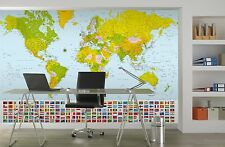 Environmental graphics world map 8ft x 13ft wall mural ebay giant paper wallpaper 366x254cm map of the world wall mural for home office gumiabroncs Images