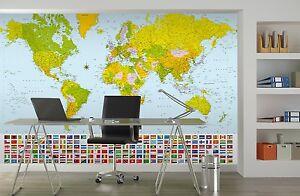Papier géant peint cm mappemonde décoration murale pour