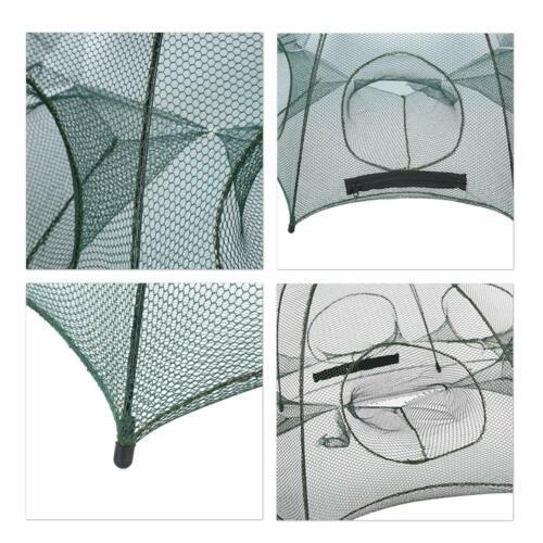 Foldable Crayfish Fishing Bait Crab Net Live Trap Cast Dip Prawn Minnow Crawdad