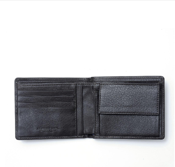 A.G. Spalding & Bros Leather Wallet with Coin Purse 175704u900 Black Frida
