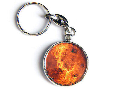 Abile Planet Venus Outer Space Galaxy Quality Chrome Keyring Picture Both Sides Con Metodi Tradizionali