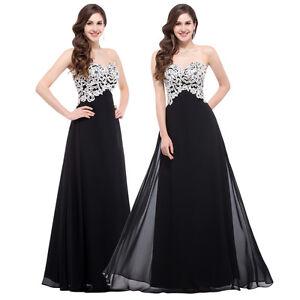 429dcbec89dfb Image is loading Black-HOT-Bridesmaid-Prom-Dress-LONG-Formal-Evening-