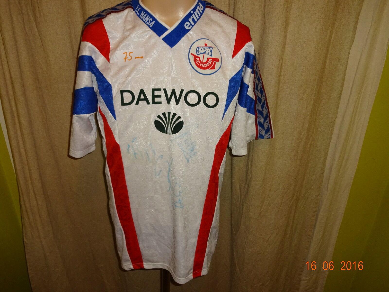 FC Hansa Hansa Hansa Rostock Original erima Heim Trikot 1996 97  DAEWOO  + Handsigniert Gr.M 8cf749