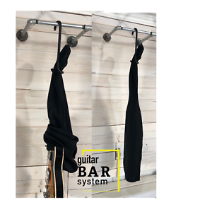 Guitar Bar Hanger Closet Hanger Display Our Cotton Black Electric Guitar Cover