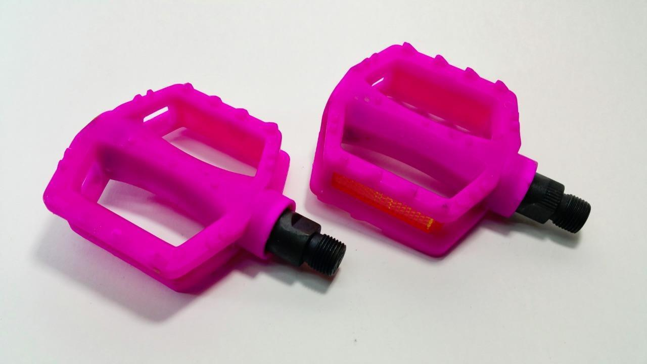 Qty 10 PINK 9 16  Nylon  Plastic Pedals 3 x3  Kids Bmx Pedal 3  piece cranksets  factory outlet online discount sale