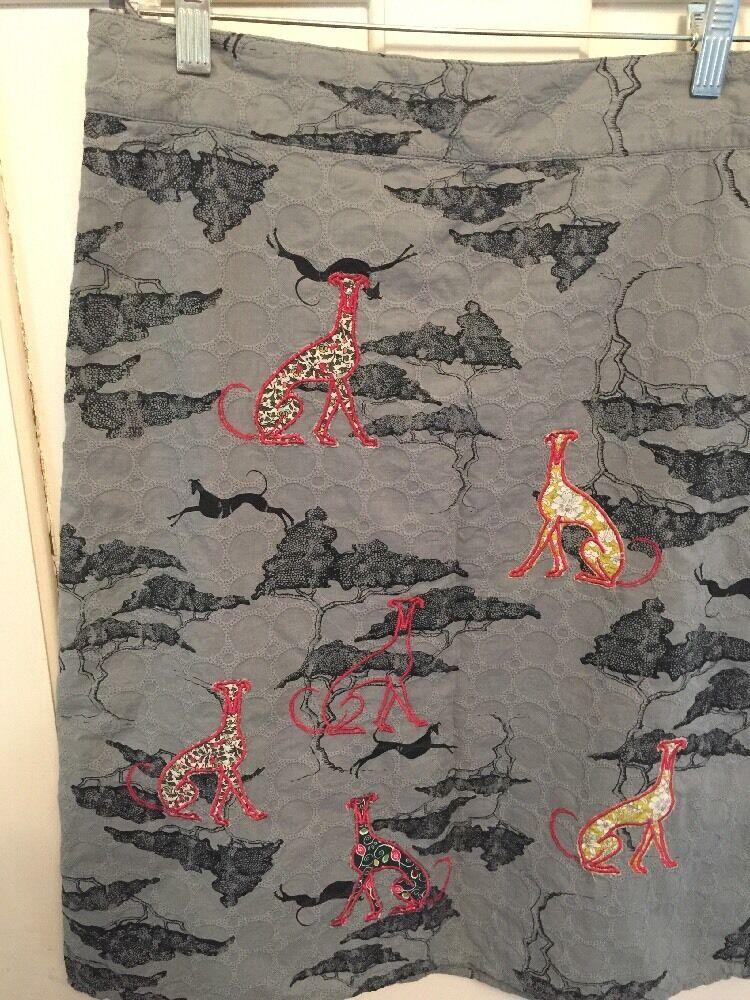 Rare Greyhound Embroidered Skirt From UK Brand White Stuff 4
