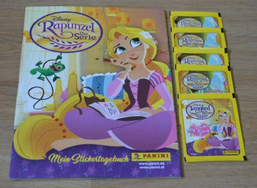 PANINI Rapunzel la série LEERALBUM 5 pochettes//25 stickers mon Sticker journal