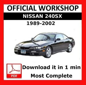 official workshop manual service repair nissan 240sx 1989 2002 rh ebay co uk nissan 240sx manual swap nissan 240sx manual steering rack
