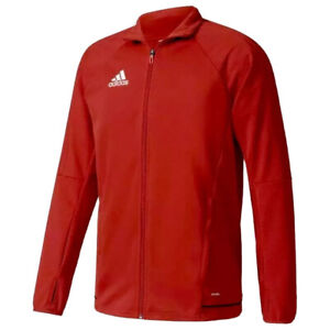 Adidas-Tiro-17-Men-s-Size-L-Soccer-Athletic-Training-Track-Fitted-Jacket-Red