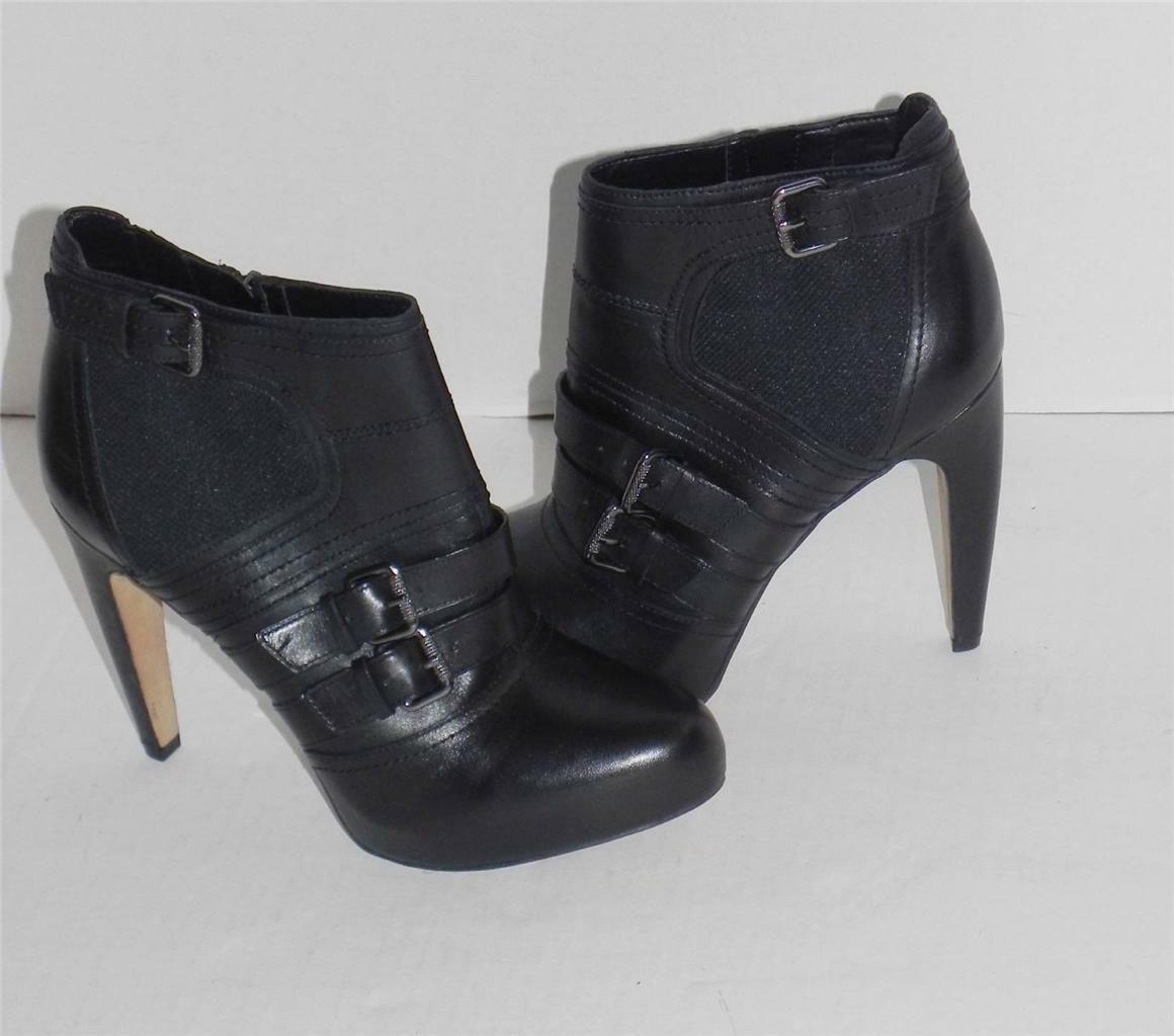 SAM EDELMAN KENLEY BLACK LEATHER LEATHER LEATHER ANKLE Stiefel 10 4e470f