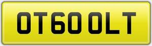 McLAREN-600-LT-PRIVATE-CAR-REG-NUMBER-PLATE-OT60-OLT-FEES-PAID-OTT-600LT-MCL