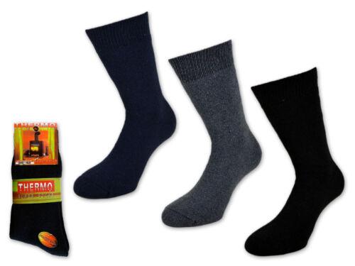 3 bis 15 Paar Herren THERMO Socken Wollsocken Extra Dicke Socken