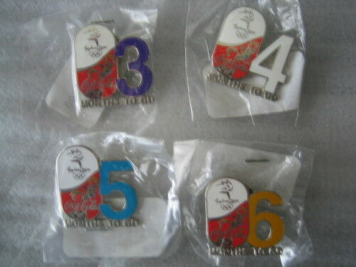 Sydney 2000 Olympic Games Coca Cola 3, 4, 5 & 6 x Month's 2 Go Pin's Brand New