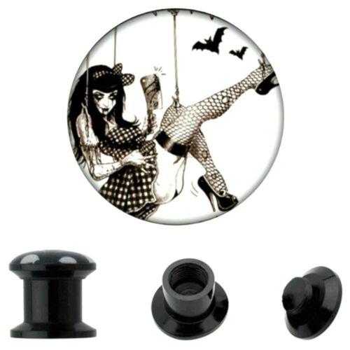 0 1//4in-0 31//32in Ear Plug Motive Screw Screw Tunnel East German Piercing Skull