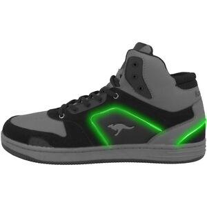 Tireless Kangaroos K-baskled Ii Schuhe Led High Top Sneaker Black Grey Lev 18127-5003 Boys' Shoes