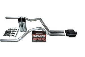 """Chevy GMC 1500 07-14 2.5/"""" Dual Truck Exhaust Kits Magnaflow XL Clamp on Tips"""