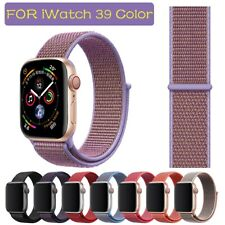 Nylon Woven Sport Loop Band Strap For Apple Watch iWatch Series 5/4/3/21 38-44mm