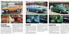 Saab 1974-75 UK Market Foldout Sales Brochure 96 95 V4 99