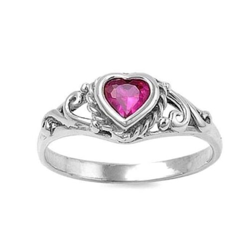 USA Seller Baby Ring Sterling Silver 925 Best Deal Jewelry Ruby Size 4