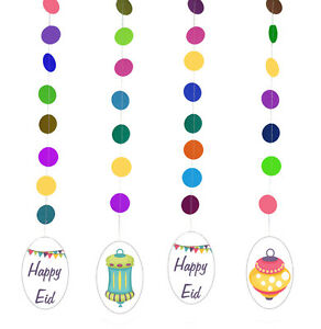 Eid Lanterns Party Multicolored Hanging Muslim Holiday Decorations