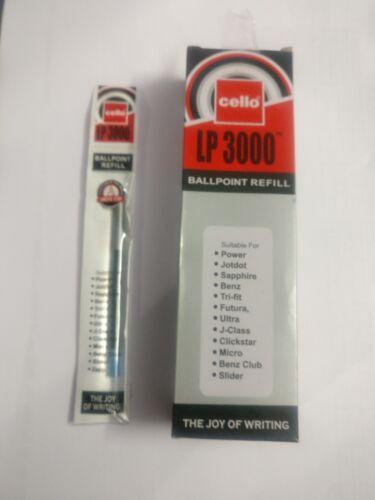 10 Cello LP 3000 BALL Pen RefillBLUECELLO Power JotdotSapphireBenz