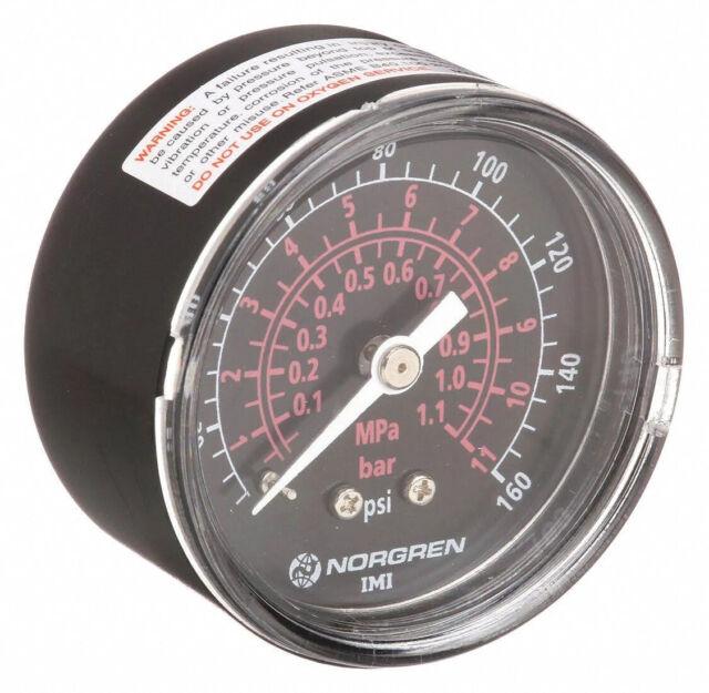 Norgren 18-013-209 160 PSI Pressure Gauge W161 for sale online