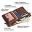 Men-Women-Genuine-Leather-Cowhide-Bifold-Wallet-Holder-Credit-Card-Retro-Purse miniature 4