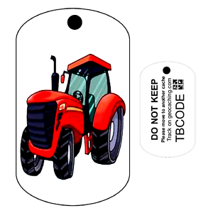 Big-Red-LE-TRACTEUR-Travel-Bug-Pour-Geocaching-tracable-Tag