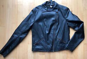 Adidas Neo Biker Jacke Gr. M Lederjacke | eBay