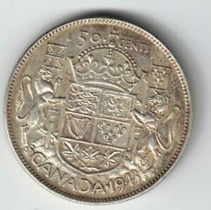 CANADA-1943-50-CENTS-HALF-DOLLAR-KING-GEORGE-VI-CANADIAN-800-SILVER-COIN