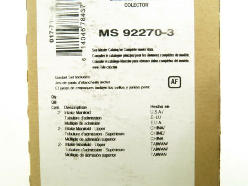 NEW Fel-Pro Intake Manifold Gasket Set MS92270-3 for Nissan Quest ...