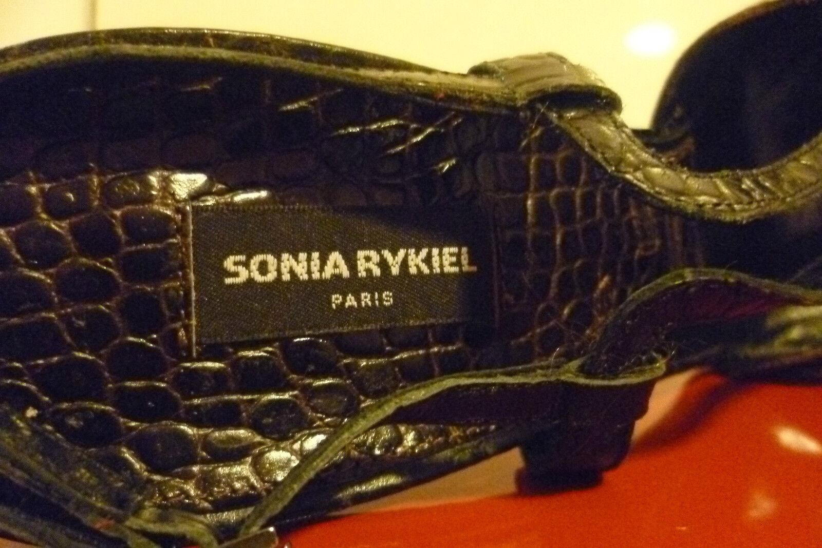 Sonia Rykiel Scarpe Col Tacco 41 Piattaforma Peeptoe Peeptoe Peeptoe in Pelle Nuovi Sandali Coccodrillo Nuovo senza scatola bdcb24