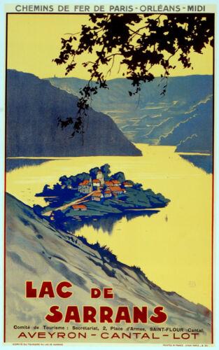 2964 Fine Graphic Art Design Chemin de Fer Lac de Sarrans Decorative Poster